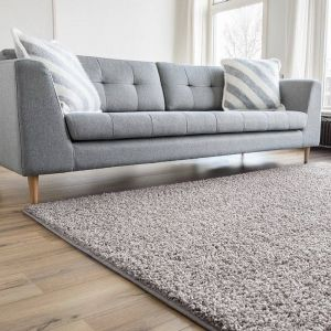 Hoogpolig Vloerkleed Beige - Shaggy Collection