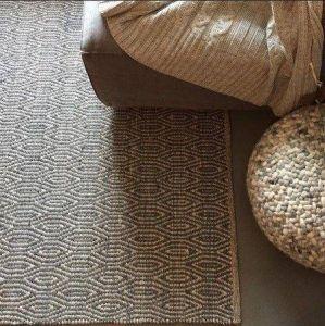Wollen Vloerkleed Grijs/Wit Labyrinth - Perletta