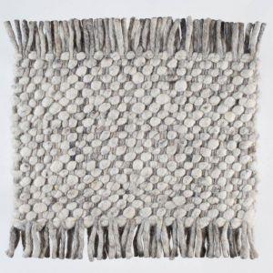 Wollen tapijt Wit Grijs Garno 003 - Perletta