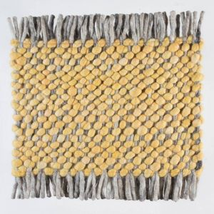 Wollen tapijt Geel Garno 120 - Perletta