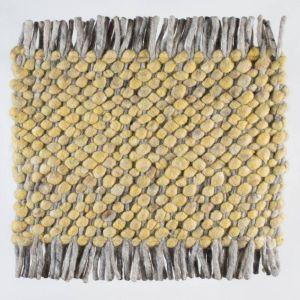 Wollen tapijt Geel Garno 127 - Perletta
