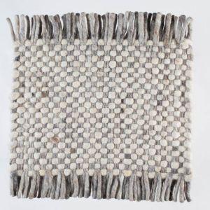 Vloerkleed Wol Wit Beige Solo 001 – Perletta