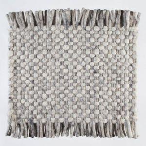 Vloerkleed Wol Wit Grijs Solo 003 – Perletta