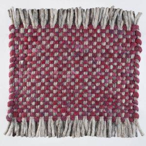 Vloerkleed Wol Bordeaux Rood Solo 091 – Perletta