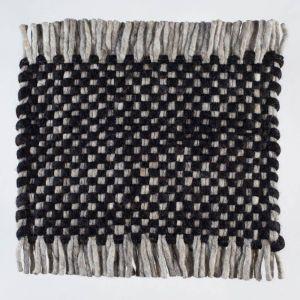 Vloerkleed Wol Zwart Solo 239 – Perletta