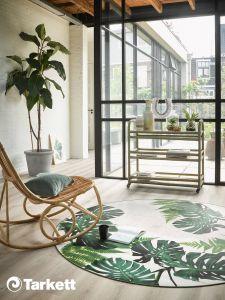 Modern Vloerkleed Rond Leaves Tropical - Desso