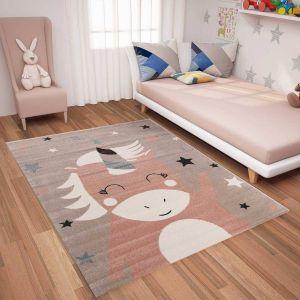 Eenhoorn Vloerkleed Kinderkamer - Tess