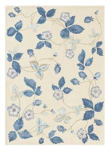 Vloerkleed Blauw/Beige bloemen Wild Strawberry - Wedgwood