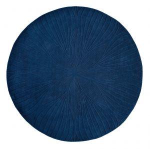Vloerkleed Blauw Folia Rond - Wedgwood