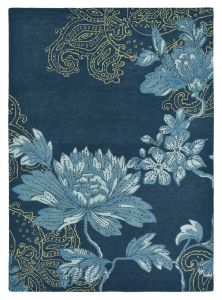 Vloerkleed Blauw Fabled Floral - Wedgwood