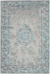 Vintage vloerkleed Lichtblauw/Lichtgrijs - Dae