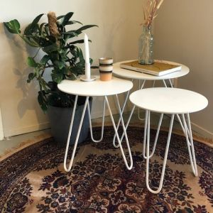 Polvo Sofa table set of 3 White