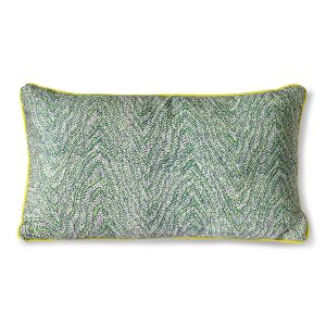 Hkliving Doris for hkliving: printed cushion green (35x60)