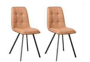 Harvey Dining Chair Douce Cognac - No Limits Set van 2