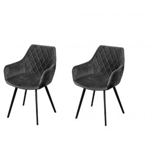Le Boudoir Dining Chair Anthracite Lush - No Limits Set van 2