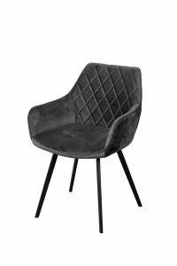 Le Boudoir Dining Chair Anthracite Lush - No Limits Set van 2