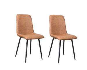 Merlot Dining Chair Douce Cognac - No Limits Set van 2