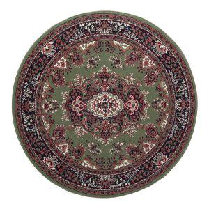 Rond Vintage vloerkleed Nain Perzisch Groen