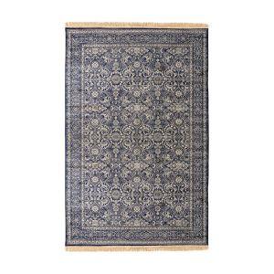 Vloerkleed Vintage Bronte Donkerblauw met franjes - interieur 05