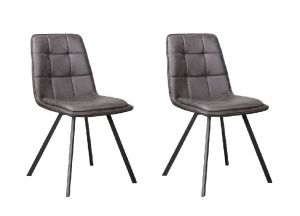 Harvey Dining Chair Douce Anthracite- No Limits Set van 2