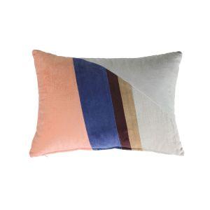 HK Living Kussen velvet patch cushion multicolour b (35x50)