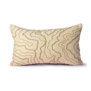 HKLiving cream cushion with stitched lines (30x50)
