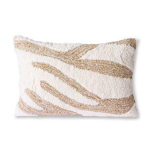 HKLiving fluffy cushion white/beige (35x55)