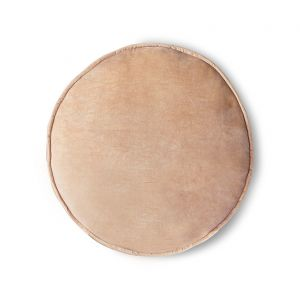 HK Living velvet seat cushion round peach (ø60)