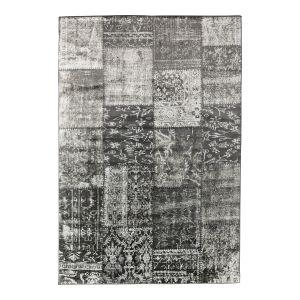 Vloerkleed patchwork blocks antraciet - interieur05