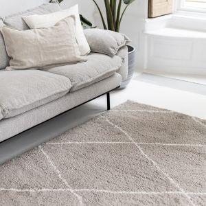 berber vloerkleed hoogpolig grijs/beige/zand/cream - scandinavisch - nea - interieur05