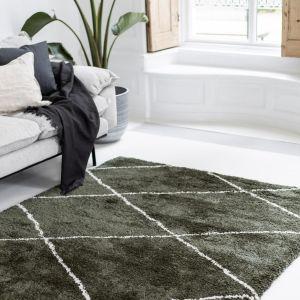 Berber vloerkleed hoogpolig Groen/Cream - scandinavisch - nea - Interieur05