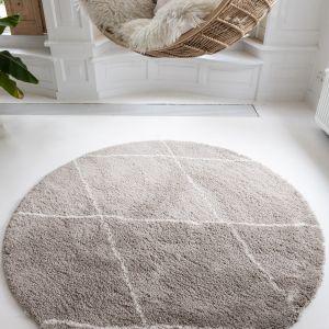 Berber Rond vloerkleed hoogpolig Grijs/Beige/Zand/Cream - scandinavisch - nea - Interieur05