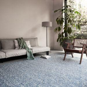 Wollen vloerkleed Bergamo 250 Blauw - Interieur05