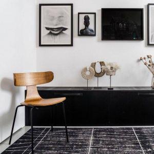 Vloerkleed Modern Artline met strepen Zwart
