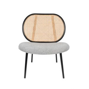 zuiver lounge chair spike natural/grey