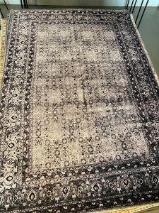 Sample Vintage vloerkleed Zwart/Antraciet 160 x 230